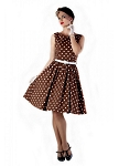 'Audrey' Chocolate Polka Dot Swing Dress