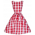 Audrey Red Check Swing Dress