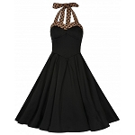 Carola Black Halter Neck Flared Swing Party Jive Dress