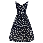 'Fay' Navy Bow Swing Dress