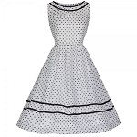 'Rosina' Monochrome Darling Polka Dot Swing Dress